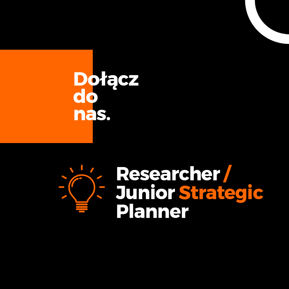 Poszukiwany/a Researcher/Junior Strategic Planner